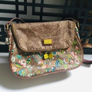 OILILY CROSSBODY BAG FRENCH FLOWERS FLORAL EUC